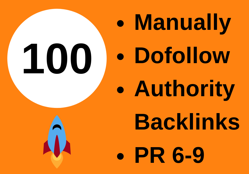 100 High Quality Authority Backlinks I Provide Manually+ FREE Ahrefs Report