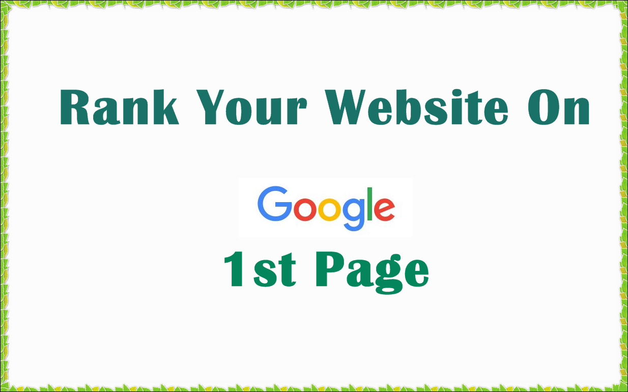 Promote Your Website Rank First Page On Google