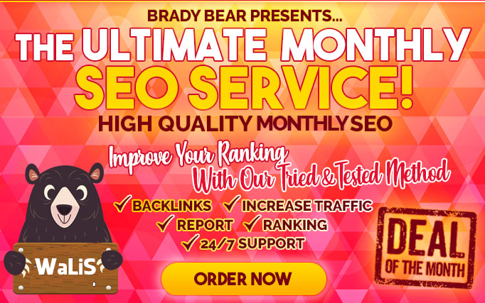 Create High Quality Backlinks,  Monthly SEO Service