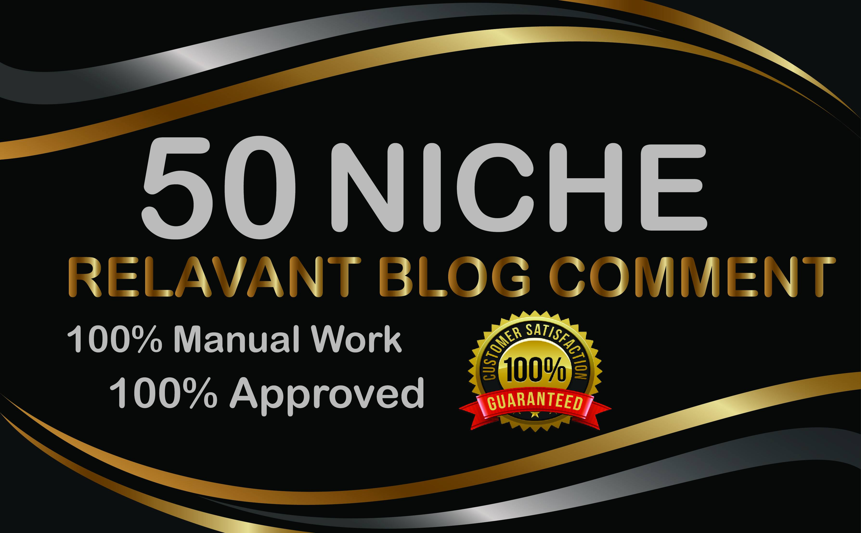 50 Manual Niche Relevant Blog Comments SEO Backlinks
