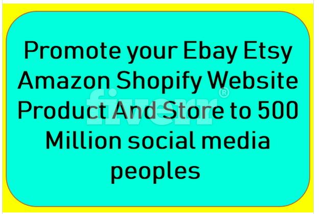 blast traffic to ecommerce, amazon web etsy,  ebay promotion or marketing
