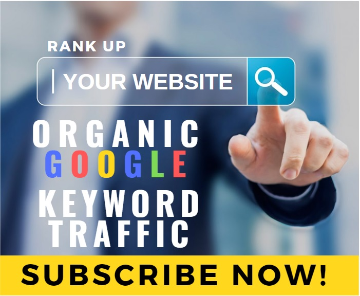 Organic Google Keyword Ranking Website Traffic Monthly Service - Until you Rank Up