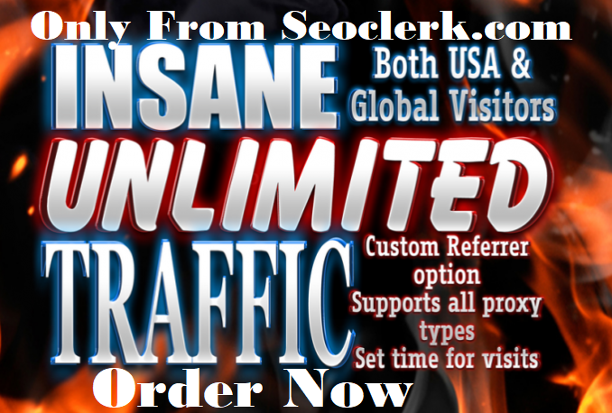 providing USA unlimited Keyword target website traffic