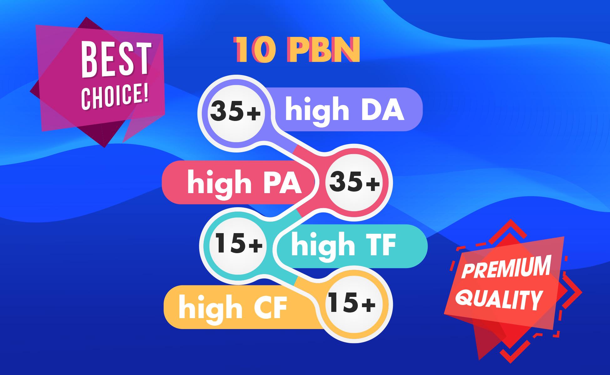 I Will Manually Create 10 High Metrics Homepage PBN Backlinks In 24 Hours