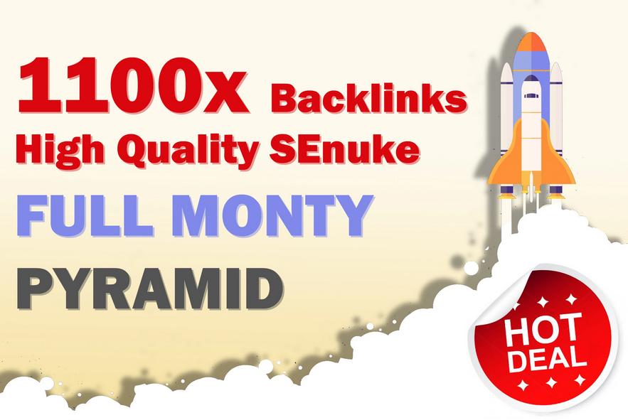 full monty 2018 pyramid 1100 SEO backlinks senuke