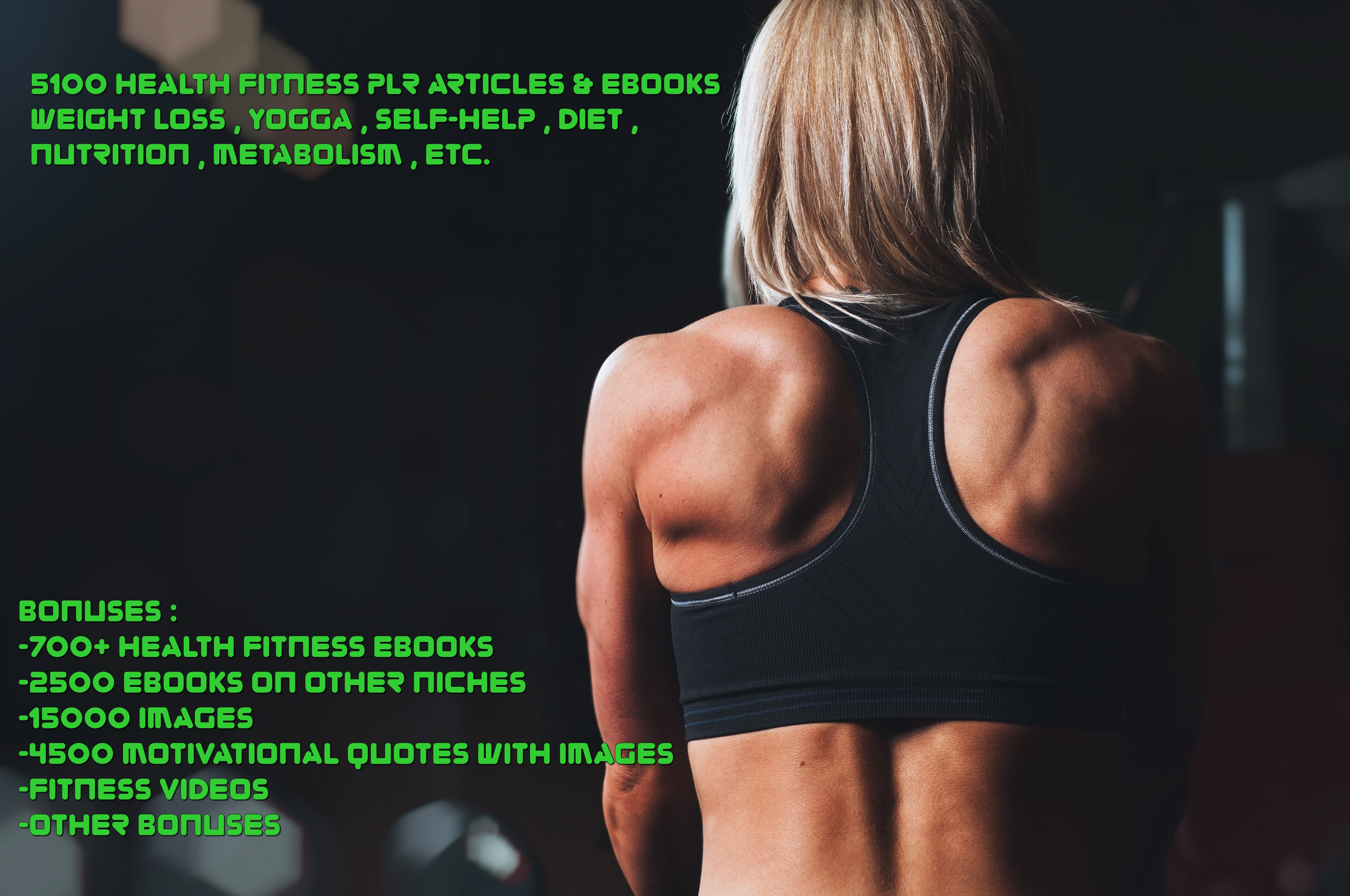 51000 health fitness plr articles,  images,  ebooks