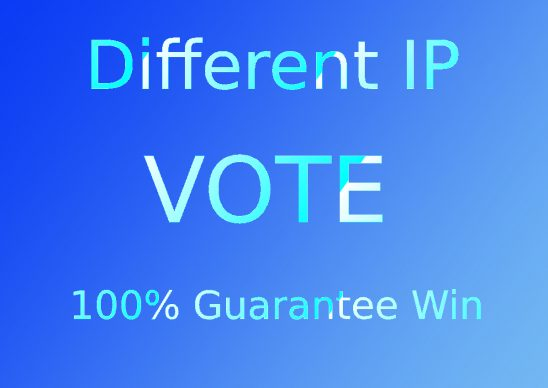 Get 200 Different IP votes in your online contest