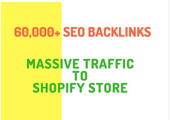 make 20,000 SEO backlinks for shopify online store promotion