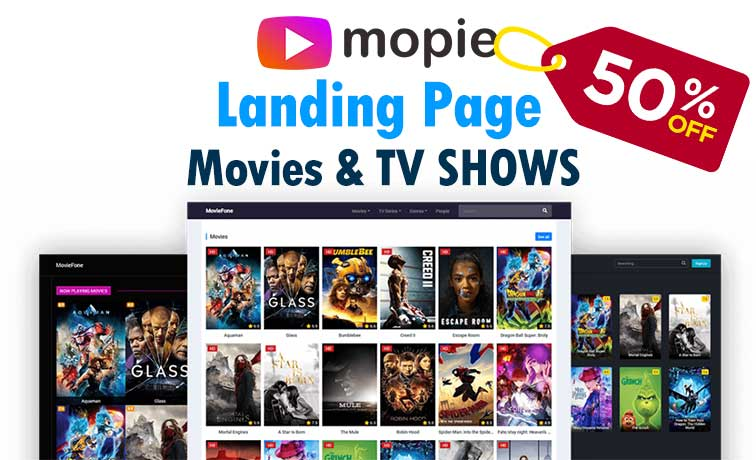 MOPIE Landing Page CPA Movie & TV Shows
