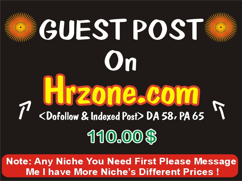 Publish a Guest post on hrzone. com