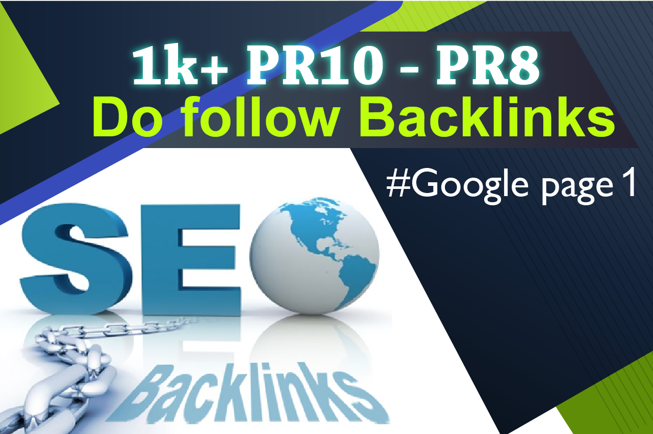 Backlinks for Ranking on google first page