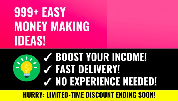 Send 999 Incredible Money Making Ideas