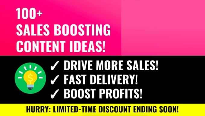 Send 100 Incredible Content Marketing Ideas