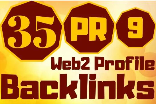 create 35 web2,0 profile backlinks high pr links for your website
