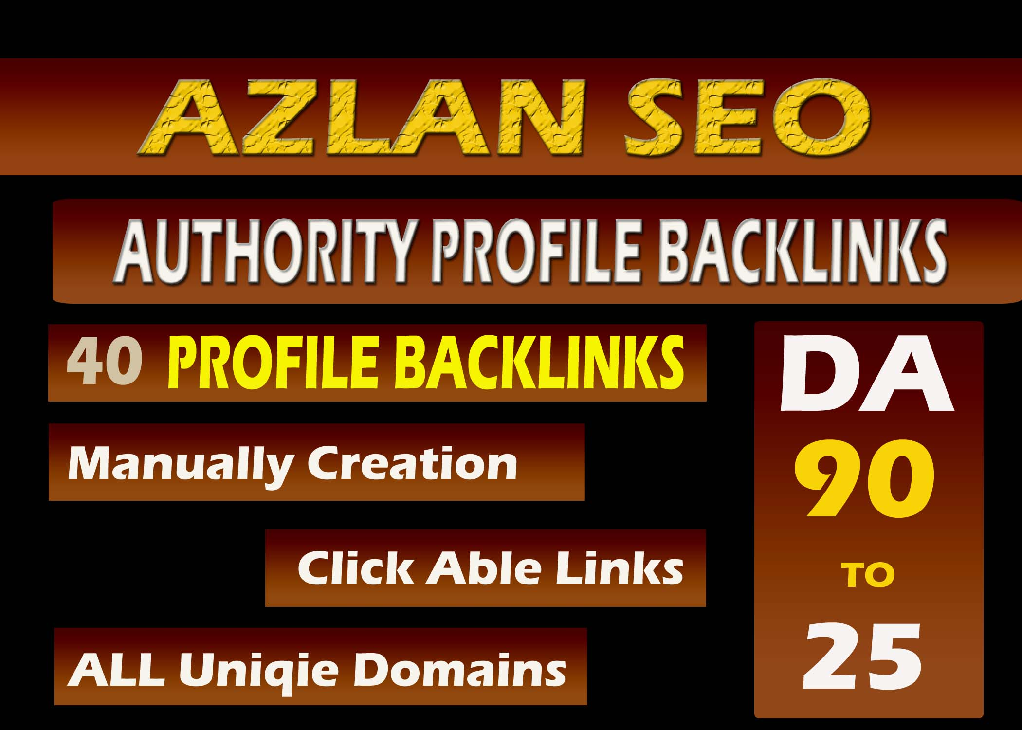 Create 40 high DA profile backlinks for your website