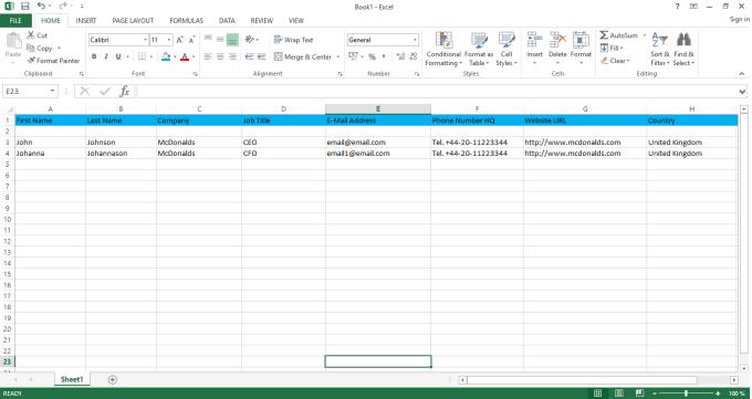 Collect Email Addresses For Ceo, Cio, Cto, Cfo, C...