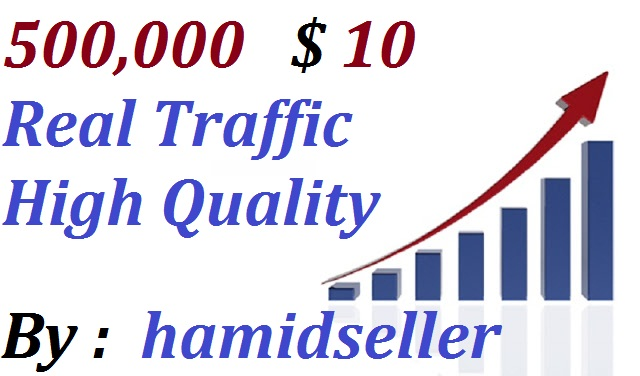 Real +500,000 WorldWide Website Traffic Visitors To your Non Drop And Very High Qulity And Unlimited Traffic Site Adsence Safe and Genuine Just for
