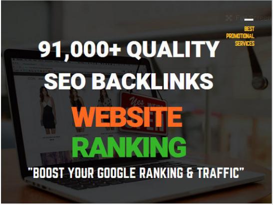 Build 91,000 quality SEO backlinks for website ranking