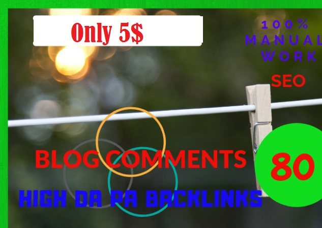 do 80 High Quality Niche Relevant Manual Blog Comment...