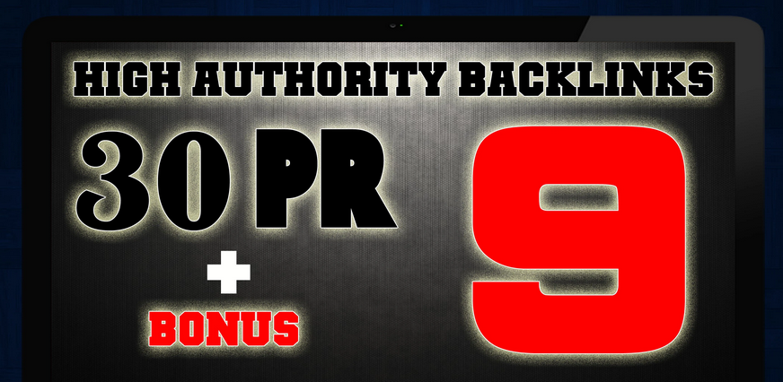 manually do 30 pr9 seo backlinks with bonus
