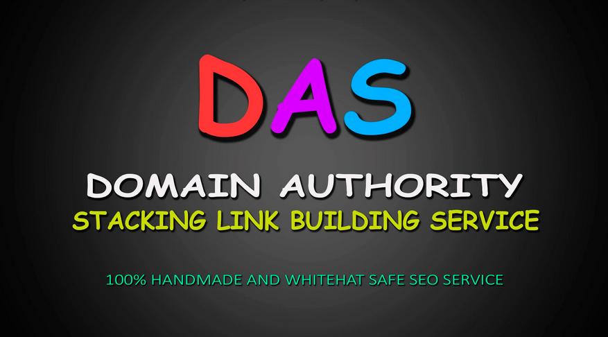 provide domain authority stacking 100 SEO backlinks