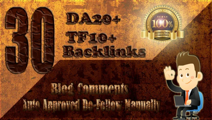 submit 30 high da tf dofollow backlinks