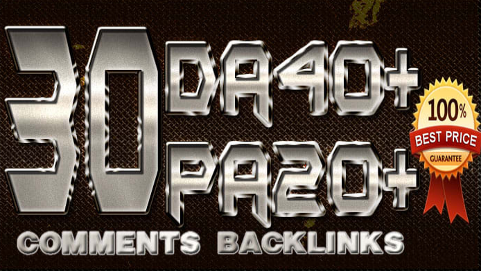 10 comments backlinks on high pa da dofollow domains