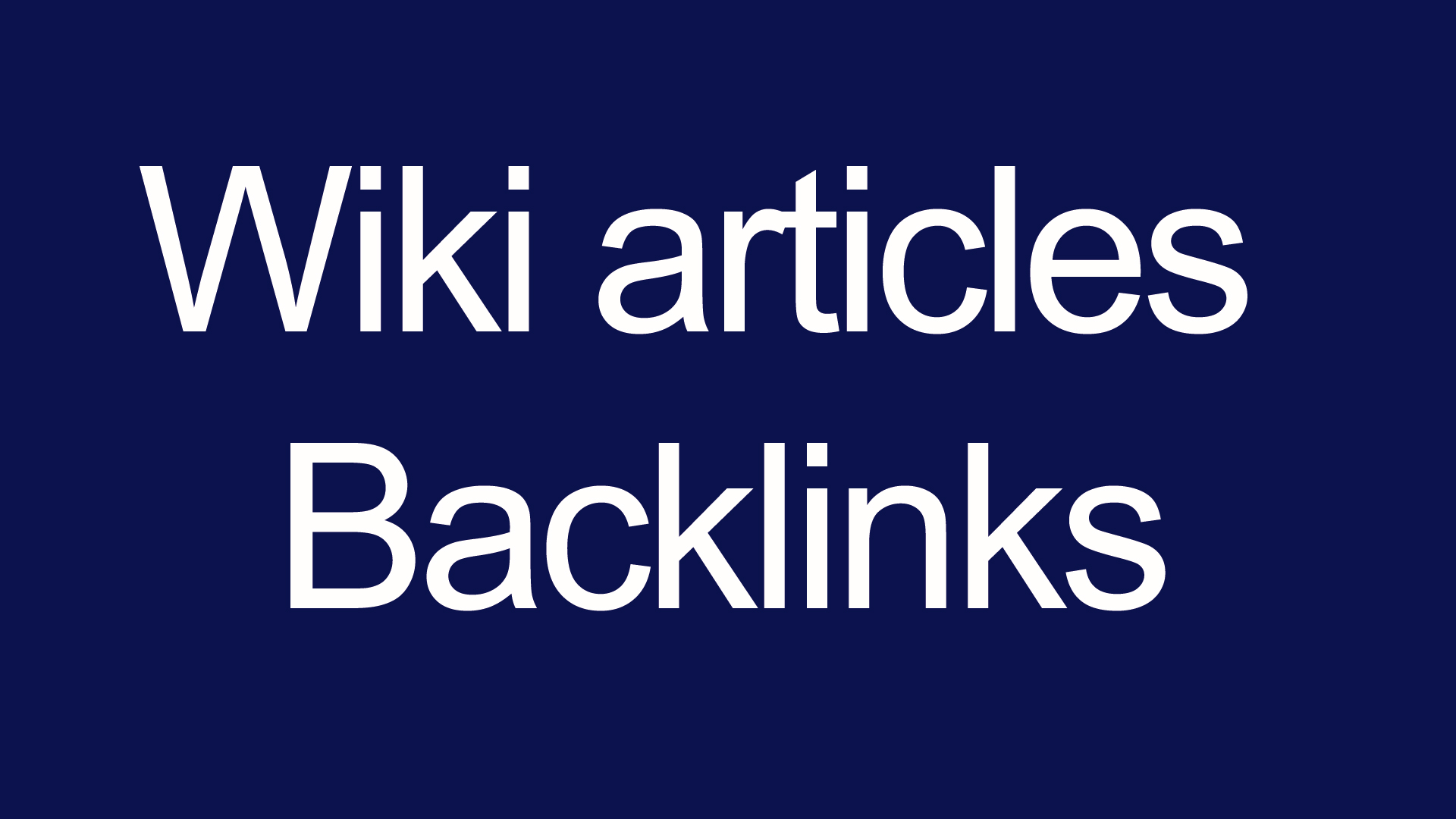 Wiki articles Backlinks contextual backlinks 3000 backlinks for your site