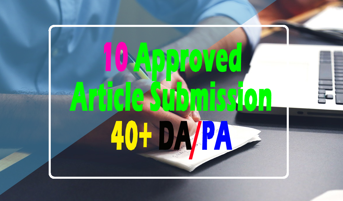 Manual 40+ DA/PA 10 Approved Article Submission