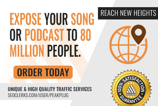 Song or Podcast Promo To 80 million People Worldwide