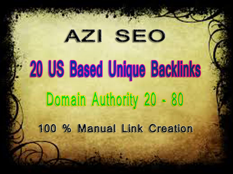 build 20 us based high domain authority backlinks