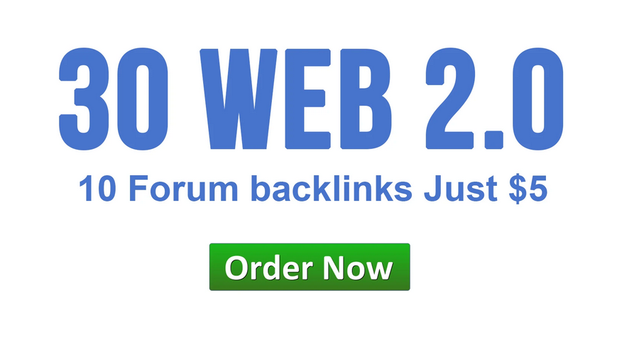 make 30 web 2 0 backlinks,10 forum posts with login details