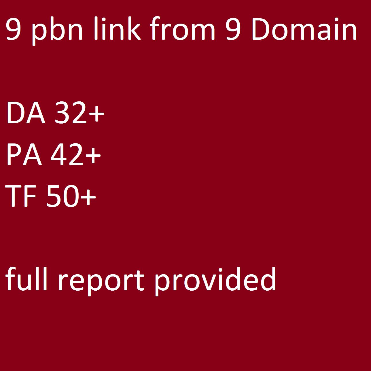9 Pbn Links From High Da, Pa,Tf Seo Dofollow Backlinks