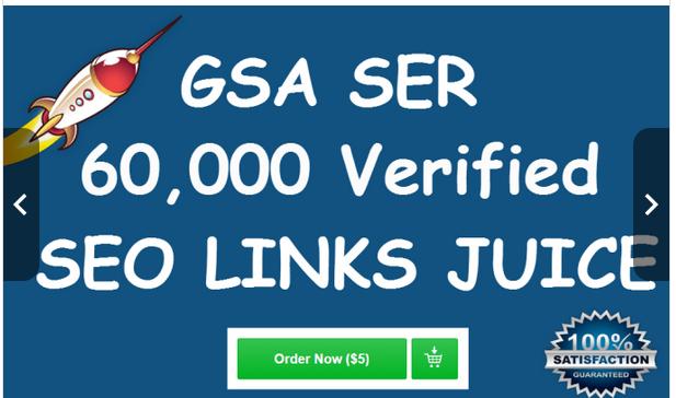 CREATE 60,000 verified gsa ser live backlinks for seo rankings