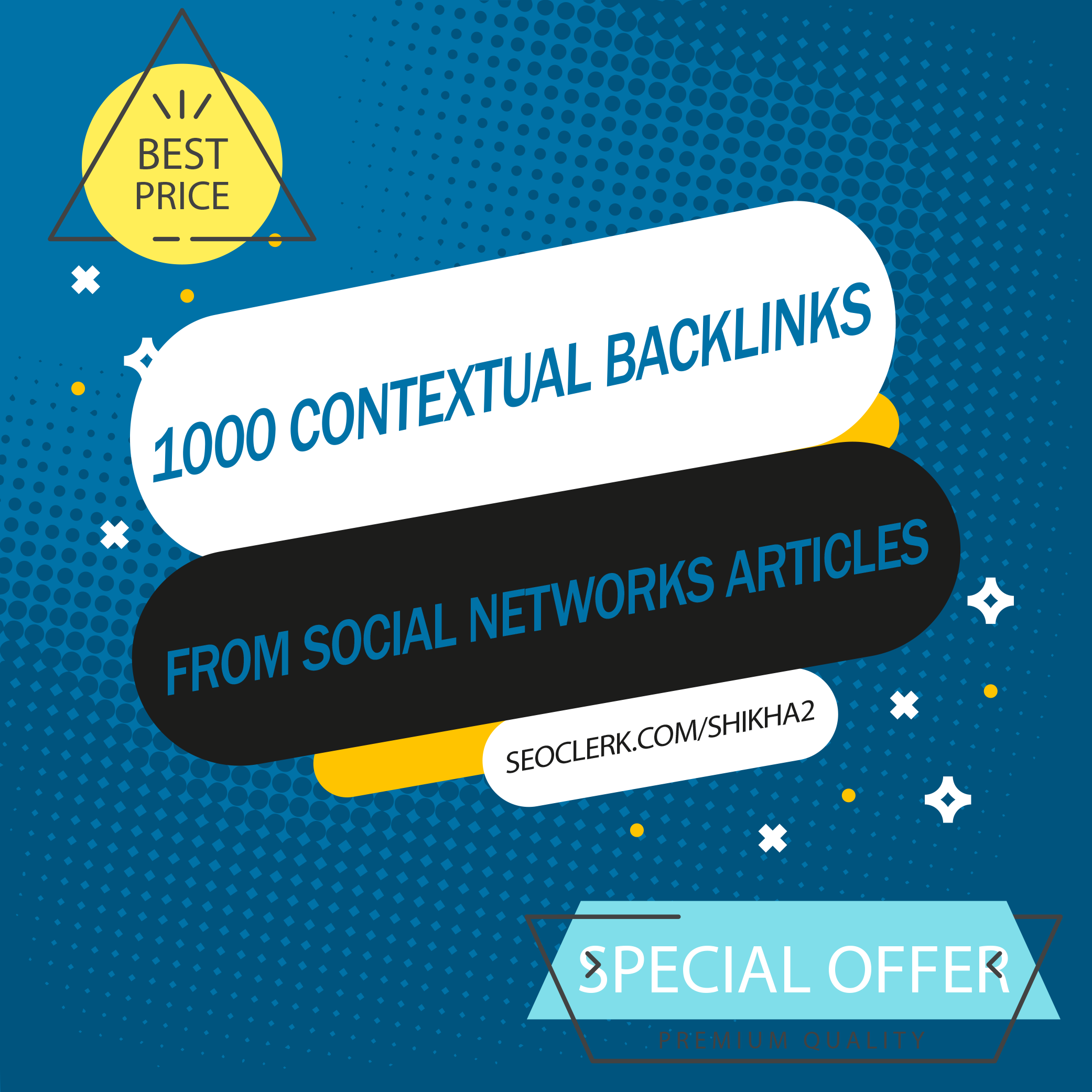 Get 1000+ Contextual SEO Backlinks from Social Networks Articles