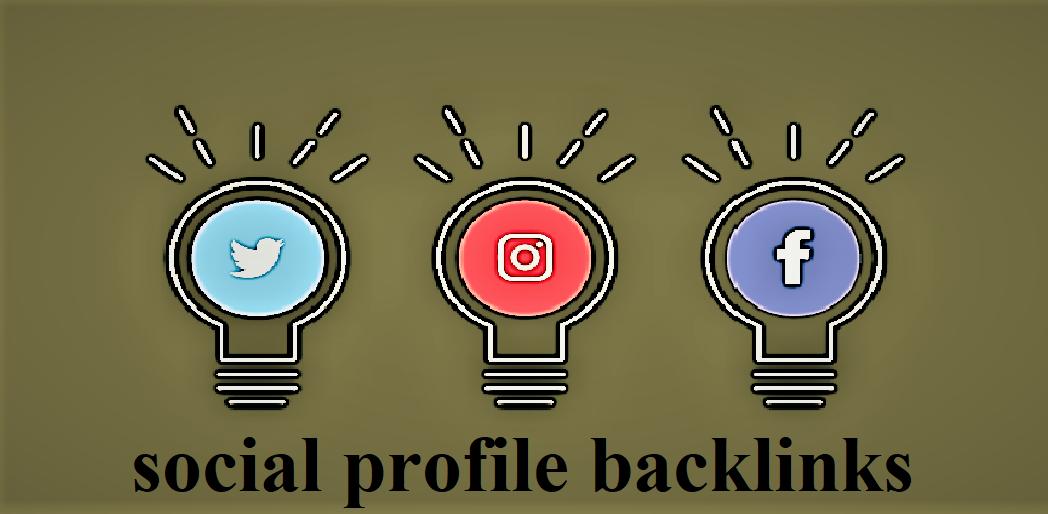 TOP 55 social profile backlinks
