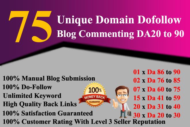 Build 75 Unique Dofollow Backlinks Da 20 To 90 Plus