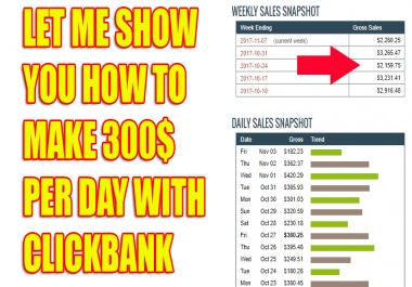 Show You Secret Way How To Make 300 Daily With CLICKBANK