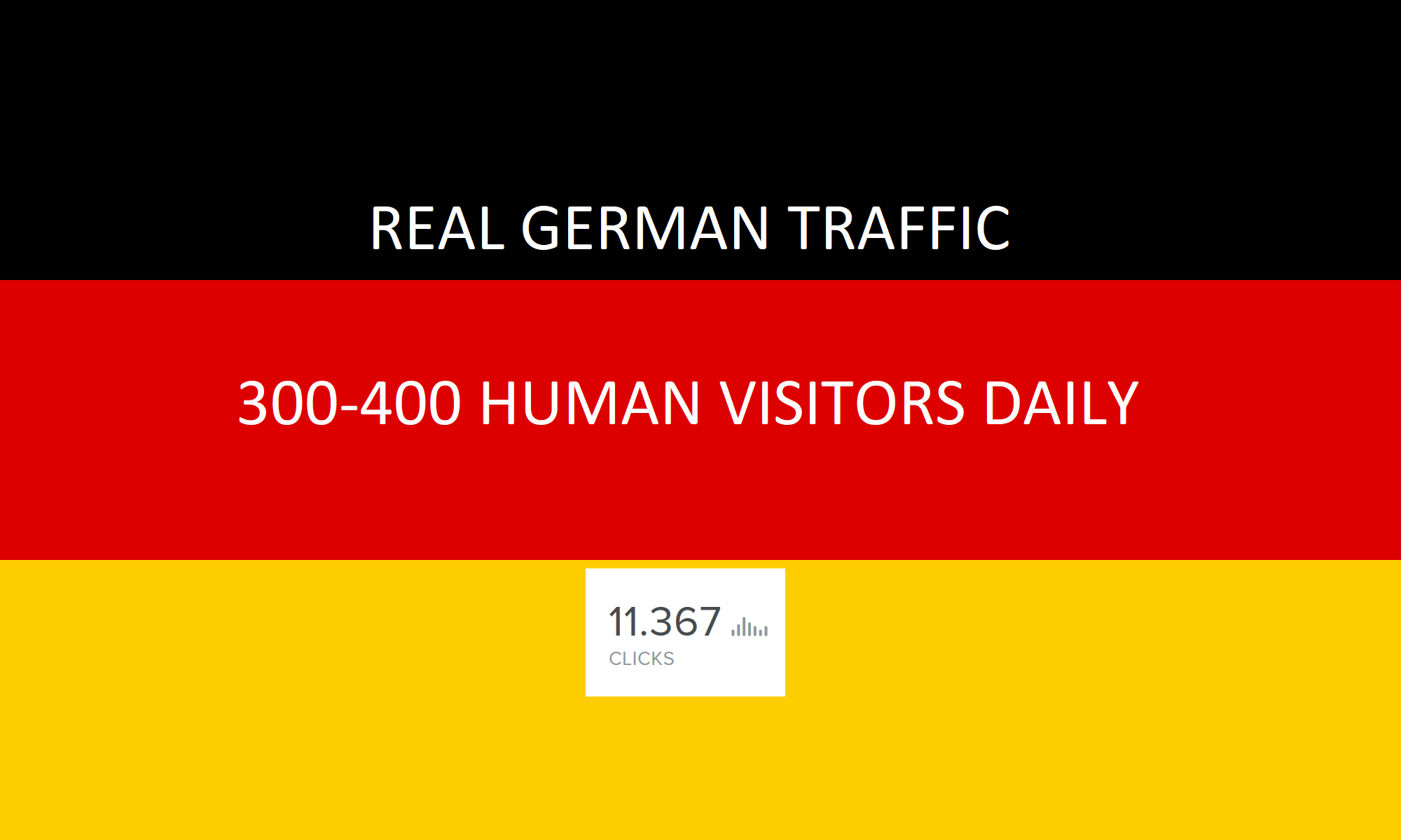 TARGETED 5,000 real human german traffic to your website