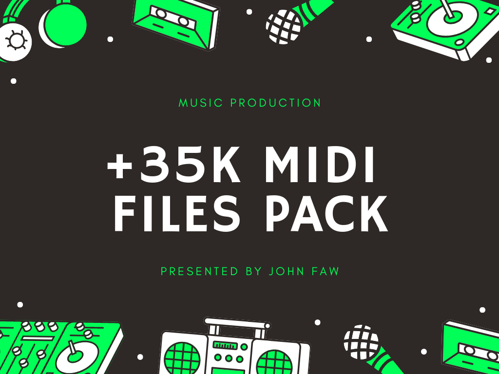 Get +35,000 MIDI Files Pack And Finish More Tracks Qu...