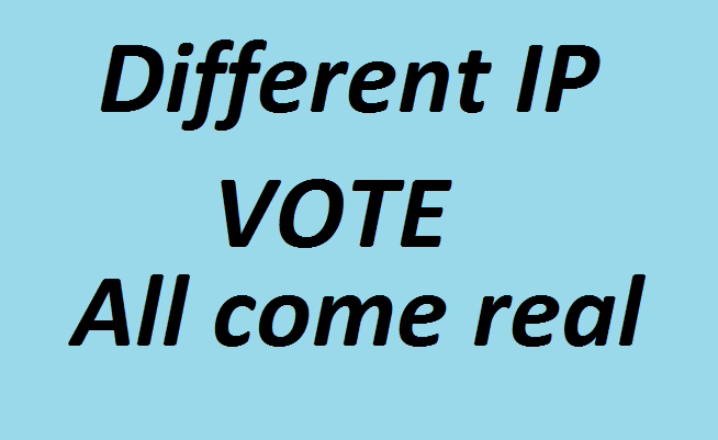 Get you 1500 genuine IP votes poll by real people