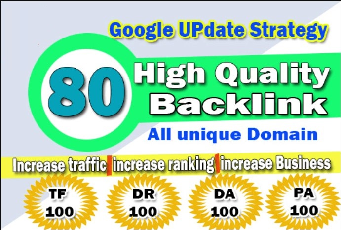 80 UNIQUE SEO BackIinks on DA100 Websites Plus Edu Backlinks