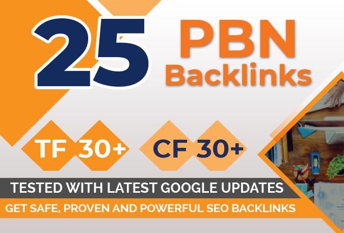 Build 25 Pbn Backlinks, High Metrics Aged Pbn Posts