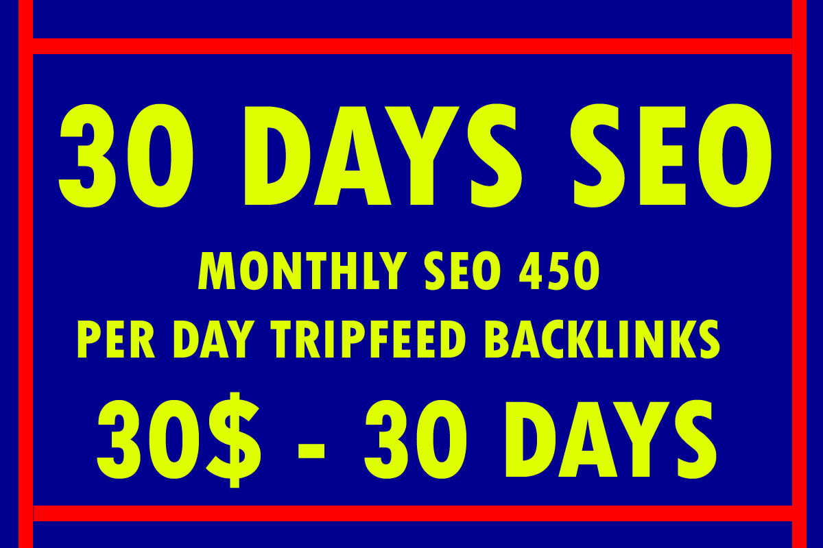 30 Days SEO Pakages With 500 Manual Backlinks