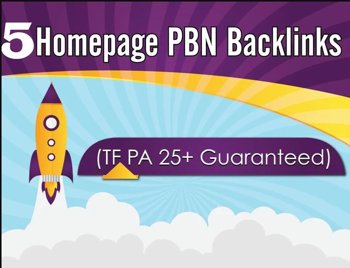 Provide 5 High DA PA Permanent Homepage Pbn Backlinks