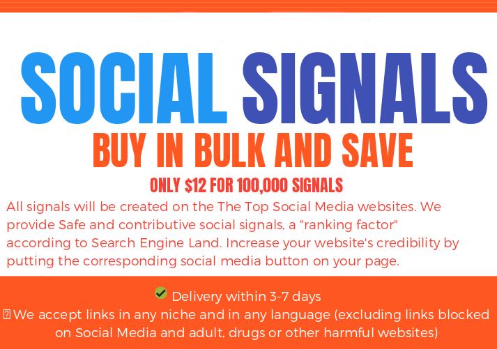 BLACK FRIDAY SALE - 70.000 SOCIAL SIGNALS