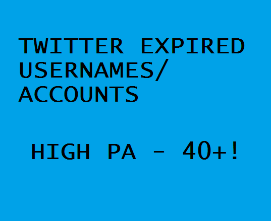 We Will Find Expired Twitter PA 40 Plus