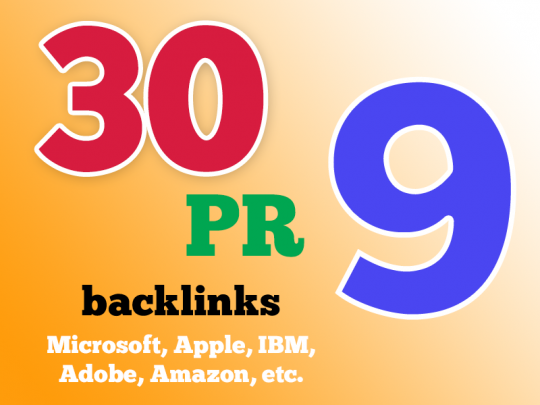 Authentic google friendly(30) PR-(10-8) backlinks from High Authority Domains
