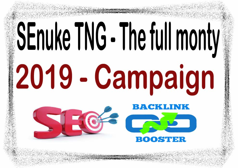 Layered SEO Package- SEnuke TNG - The full monty 2019 - Campaign