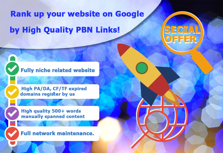 Rank up your website on Google by High Quality NINJA PBN Links.